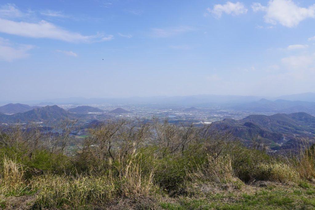 城山山頂園地から綾川町