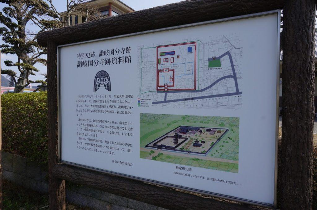 讃岐国分寺跡資料館の案内板