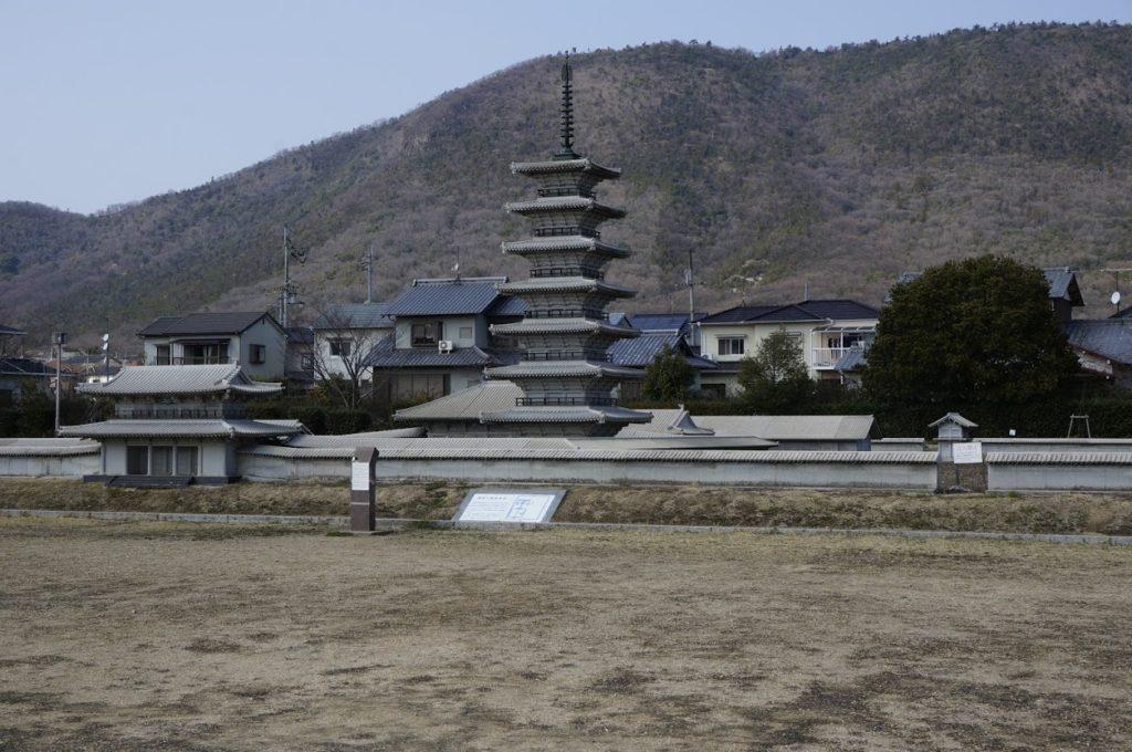特別史跡讃岐国分寺跡史跡公園石製伽藍配置模型