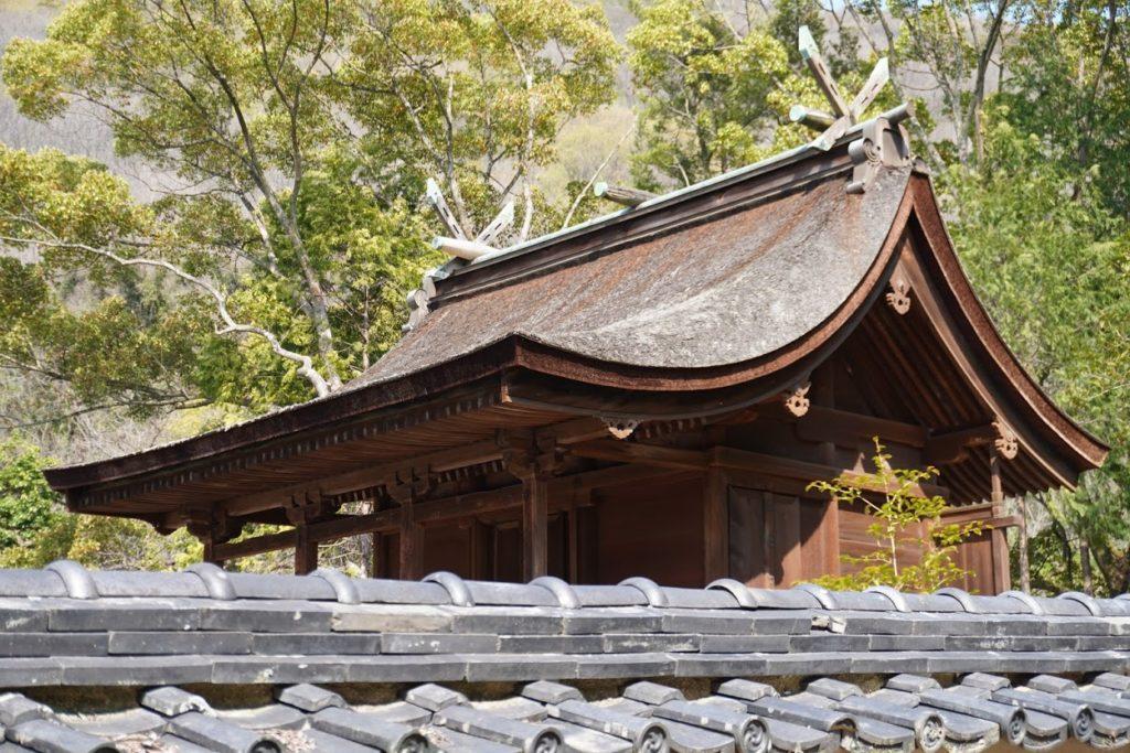 国宝神谷神社本殿の屋根