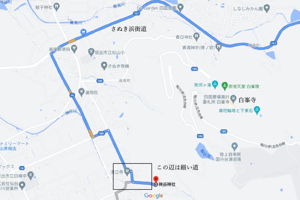 神谷神社の場所