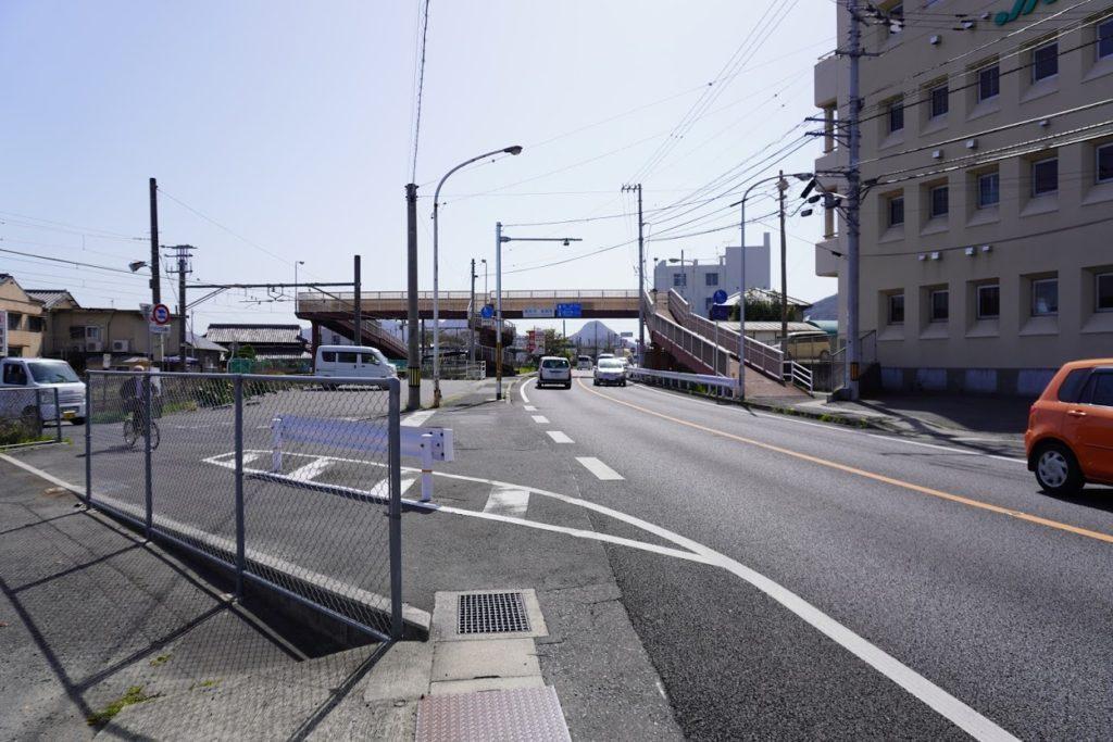 県道33号線JR鬼無駅付近