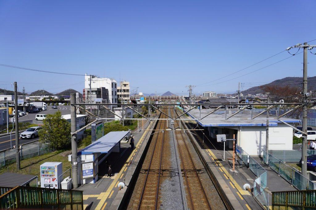 JR鬼無駅から上り高松方面