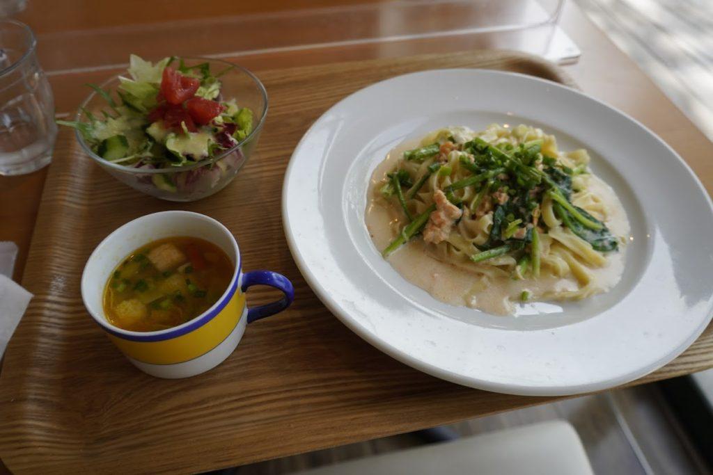 モネの庭のレストラン カフェ モネの家 パスタランチ