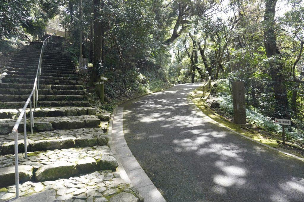 最御崎寺参道 室戸岬灯台への道