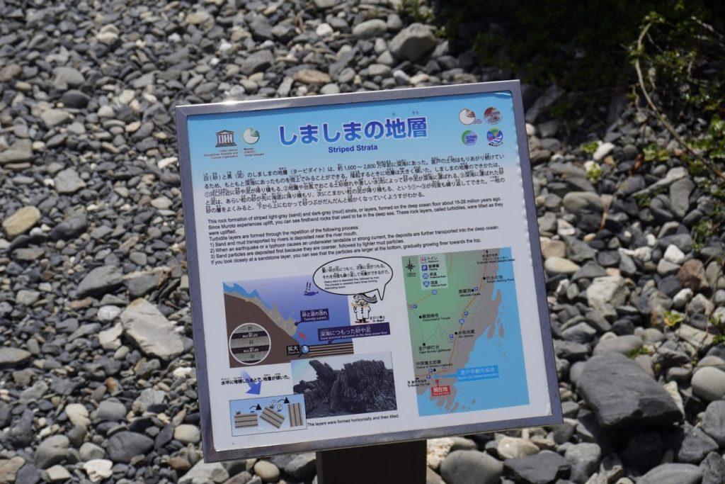 室戸岬タービダイト層しましまの地層の説明