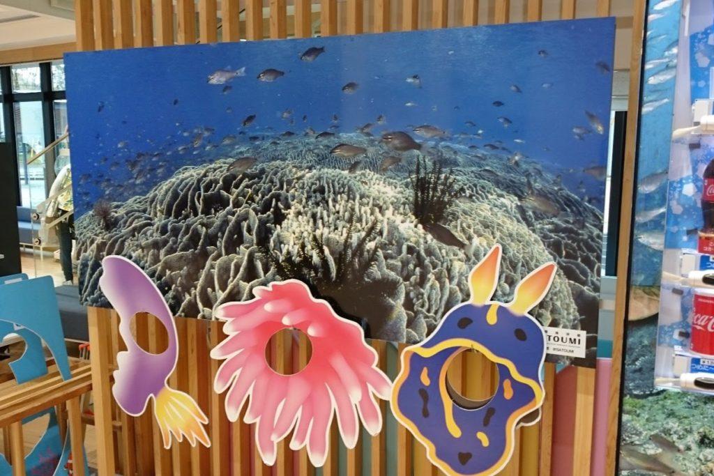 足摺海洋館SATOUMI 入口付近のパネル