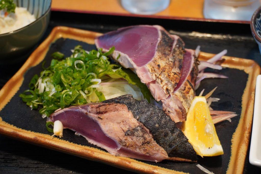 道の駅あぐり窪川レストラン風人カツオのたたき定食