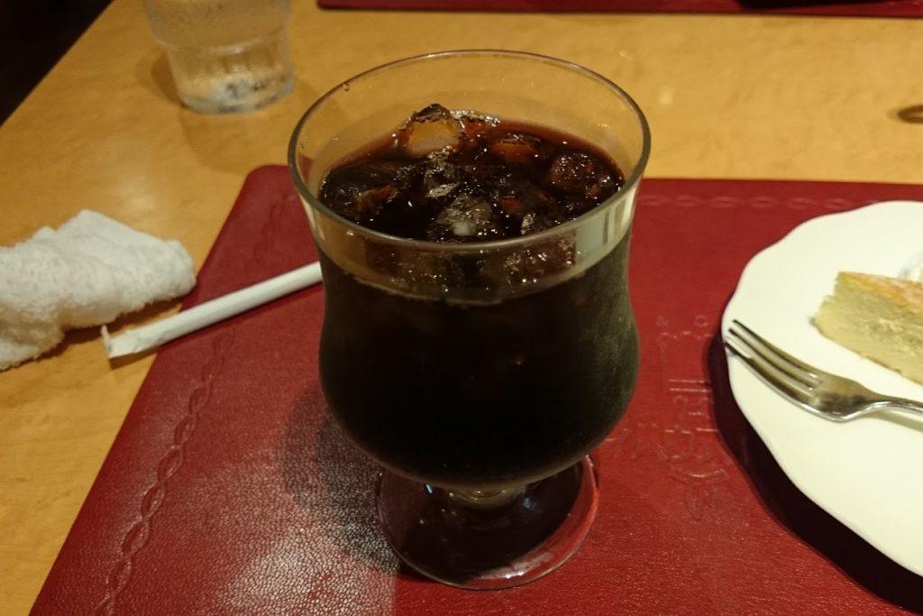 高知市スパゲッティハウスマッキーアイスコーヒー
