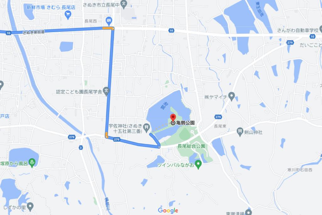 鶴亀公園の場所
