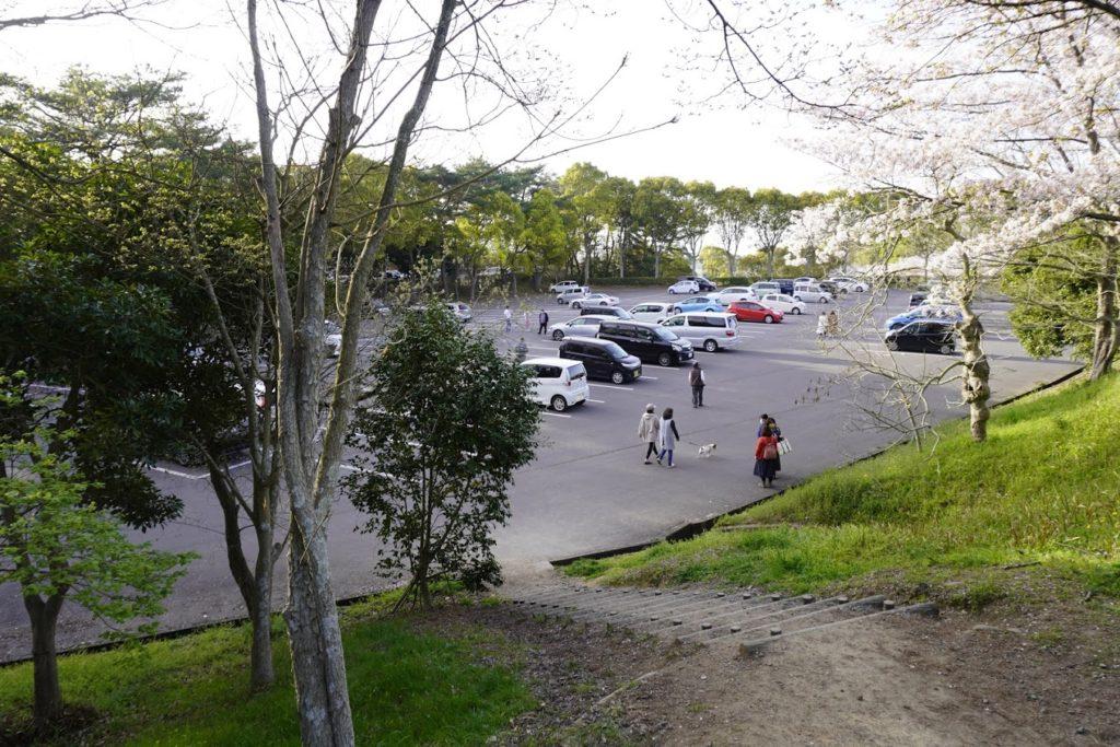 公渕森林公園のP4駐車場