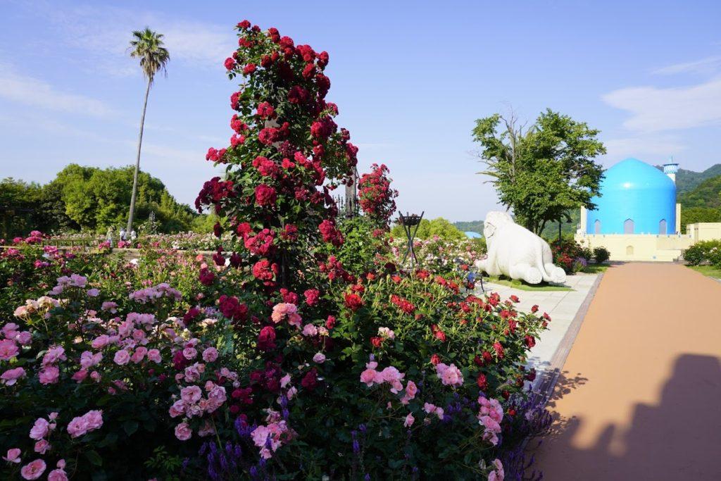 レオマ オリエンタルトリップの大バラ庭園