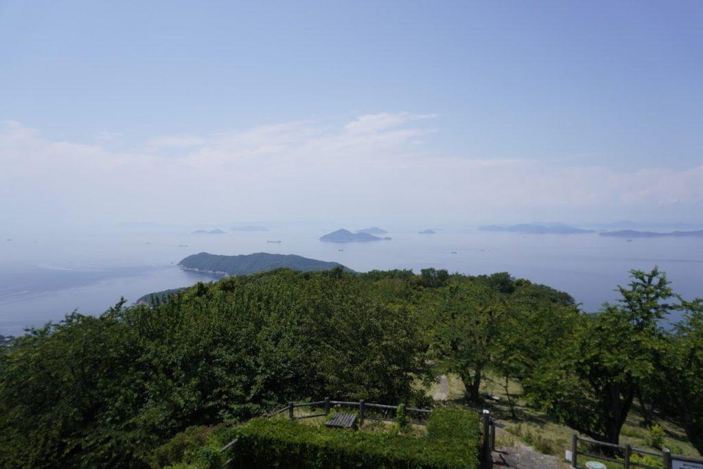 紫雲出山山頂展望台から北西側