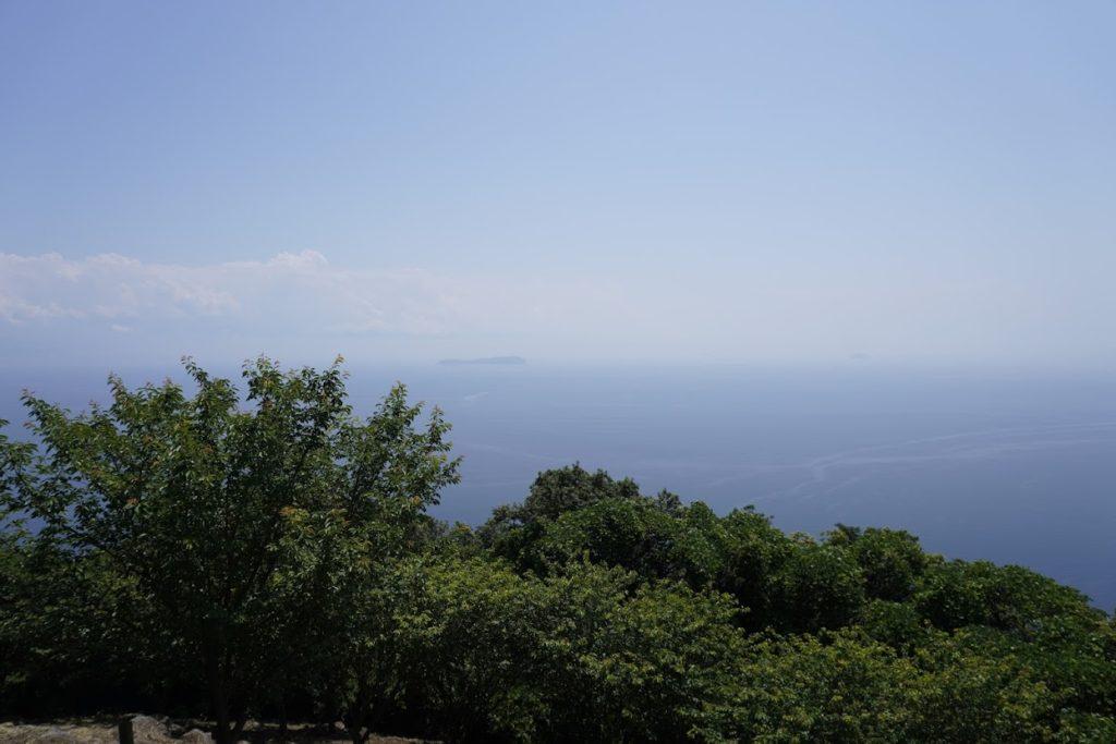 紫雲出山山頂展望台から西側