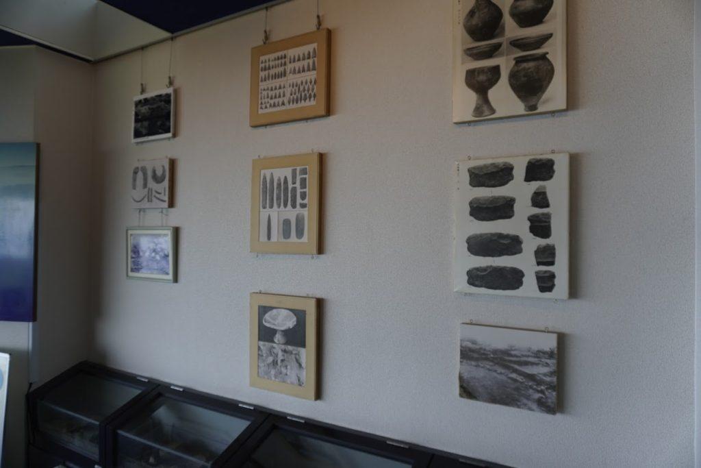 紫雲出山遺跡館の展示物