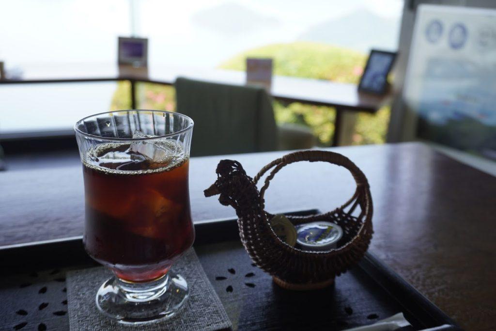 紫雲出山遺跡館アイスコーヒー