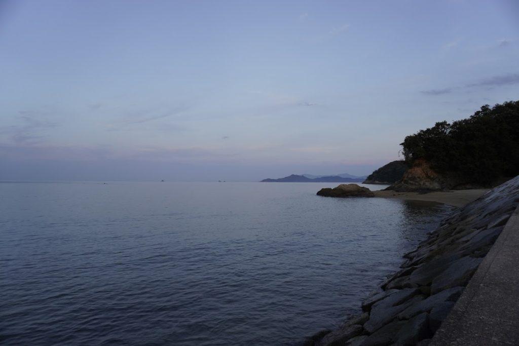 香川県東かがわ市 山田海岸から白鳥方面