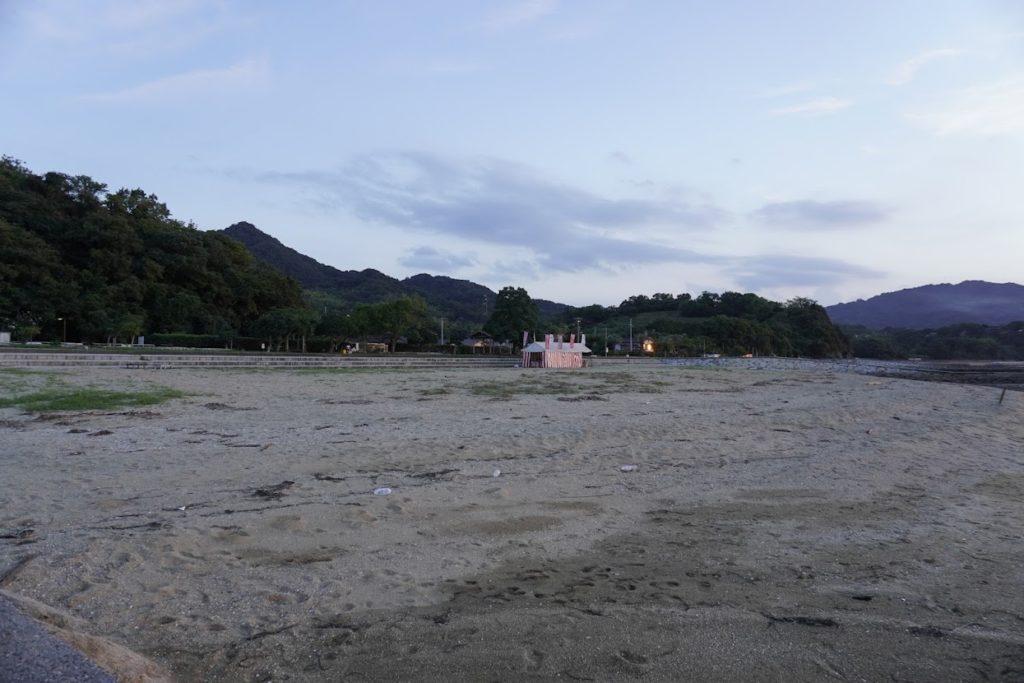 香川県東かがわ市 山田海岸の砂浜