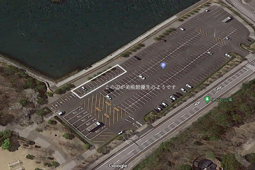 東山魁夷せとうち美術館の駐車場