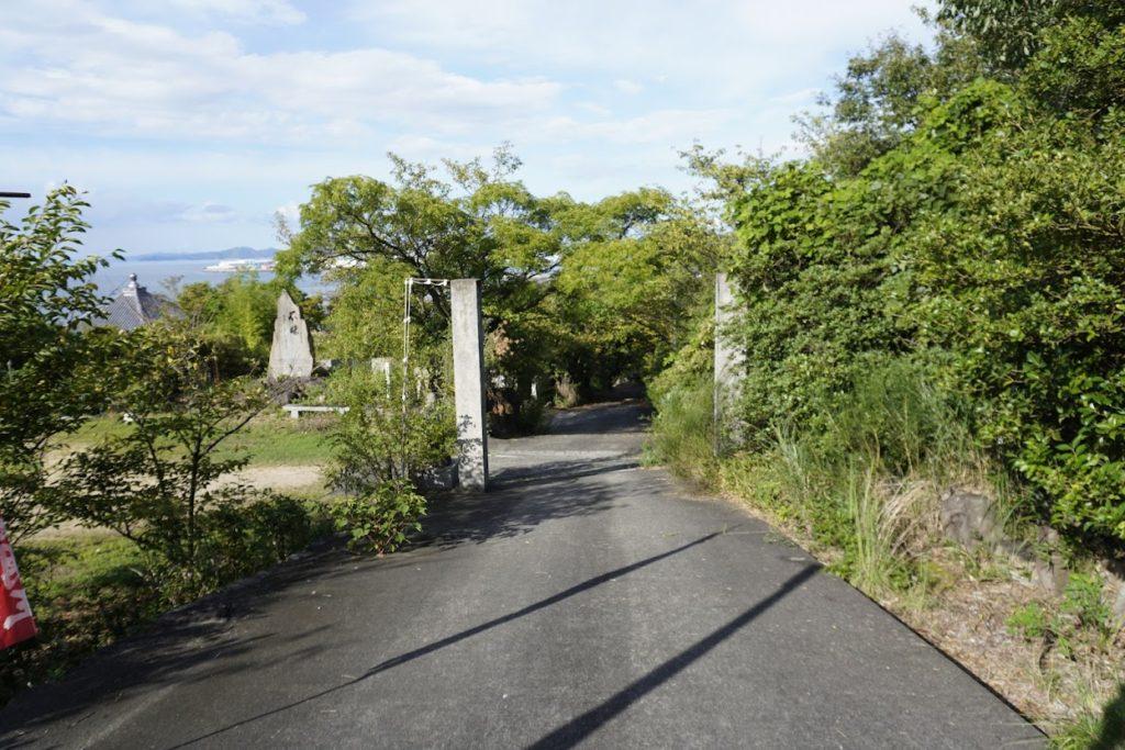 海岸寺奥之院 御盥山(まんだら園)への道