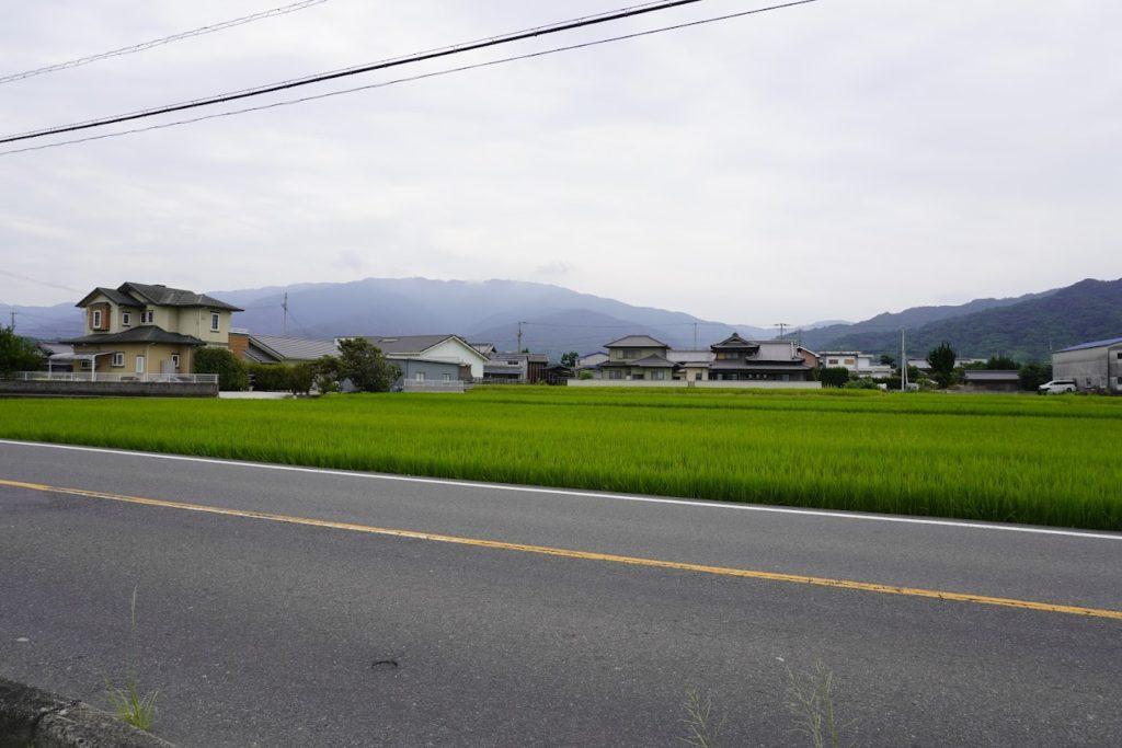 萩原交差点から雲辺寺方面
