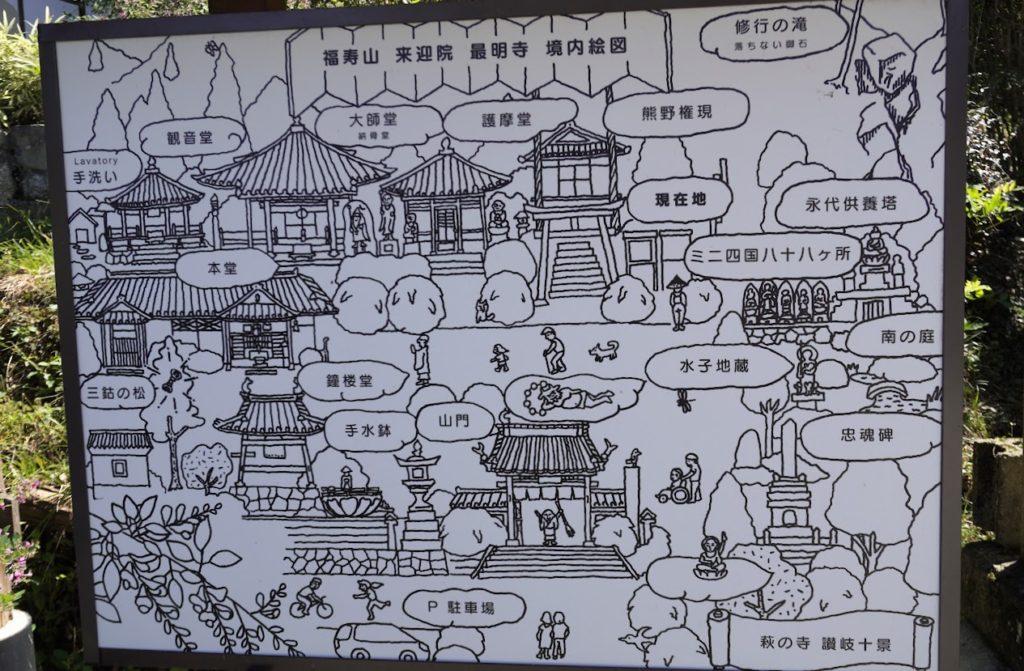 塩江最明寺境内案内図