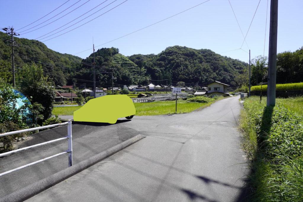 最明寺の道の途中
