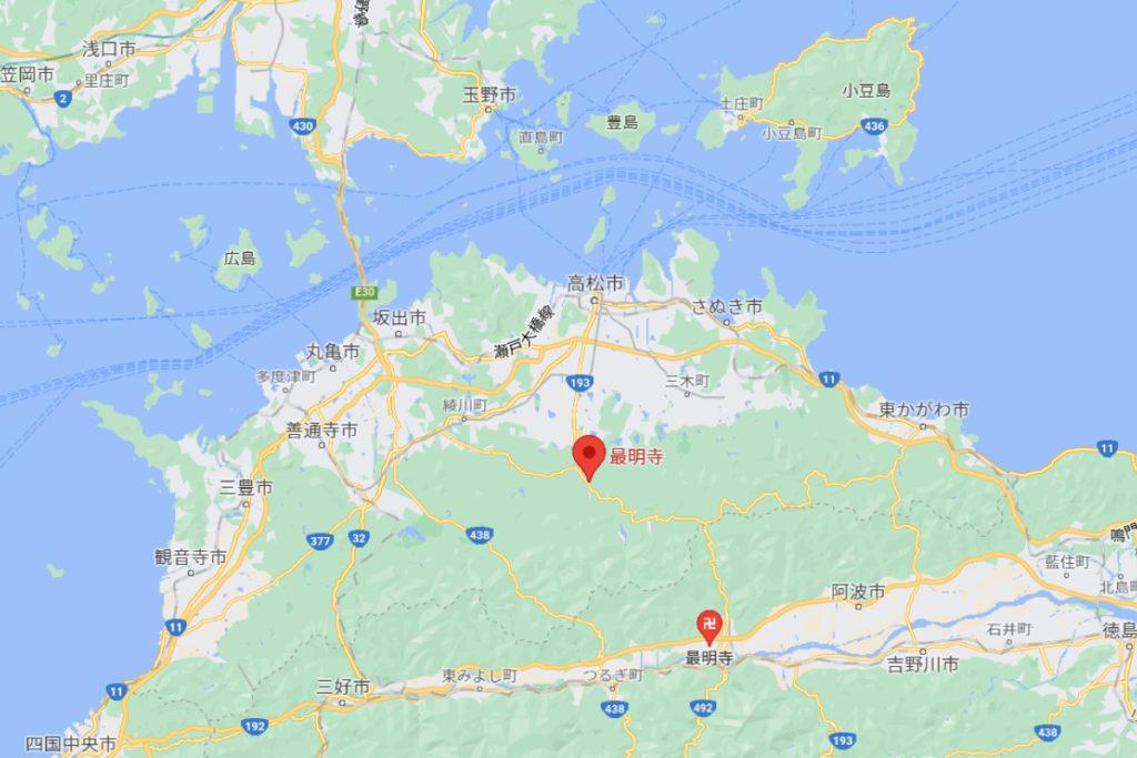 塩江最明寺の場所